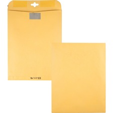 "Quality Park Resealable Redi-Tac Clear Clasp Envelope - Clasp - 10"" Width x 13"" Length - Clasp - Kraft"