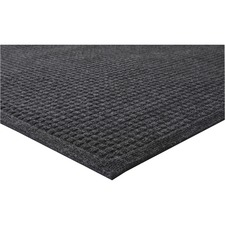"""Genuine Joe EcoGuard Indoor Wiper Floor Mats - Indoor - 72"""" (1828.80 mm) Length x 48"""" (1219.20 mm) Width - Plastic, Rubber - Charcoal Gray"""