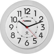 """LLR 60985 Lorell Radio-controlled 9"""" Round Wall Clock LLR60985"""