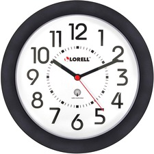 "LLR 60990 Lorell 9"" Radio Controlled Profile Wall Clock LLR60990"