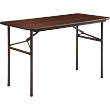 LLR 65759 Lorell Economy Laminate Mahogany Folding Tables LLR65759