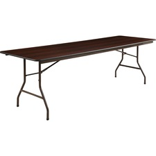 LLR 65761 Lorell Economy Laminate Mahogany Folding Tables LLR65761
