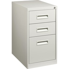 LLR 67743 Lorell B/B/F Light Gray Mobile Pedestal File LLR67743