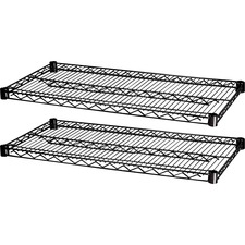 "LLR 69139 Lorell Industrial Black 48""x18"" Wire Shelving LLR69139"