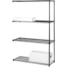 LLR 69147 Lorell Black Industrial Wire Shelving LLR69147