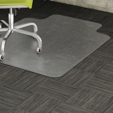 """Lorell Standard Lip Low-pile Chairmat - Carpeted Floor - 48"""" (1219.20 mm) Length x 36"""" (914.40 mm) Width x 0.12"""" (3.10 mm) Thickness - Lip Size 10"""" (254 mm) Length x 19"""" (482.60 mm) Width - Vinyl - Clear"""