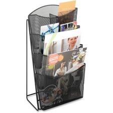 SAF 5640BL Safco Steel Mesh Magazine Rack SAF5640BL