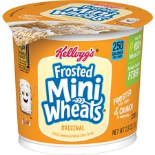 KEB 42799 Keebler Frosted Mini Wheats Large Cereal Cups KEB42799