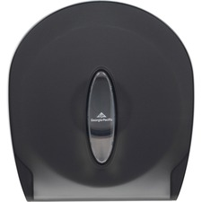 "Georgia-Pacific Jumbo Jr. Bath Tissue Dispenser - Roll Dispenser - 1 x Roll - 11.3"" Height x 10.6"" Width x 5.4"" Depth - Plastic - Smoke Gray - Lockable, Washable, Durable"