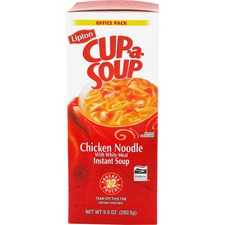 Lipton /Unilever Chicken Noodle Cup-A-Soup - Low Calorie - Cup - 1 Serving Cup - 12.8 g - 22 / Box