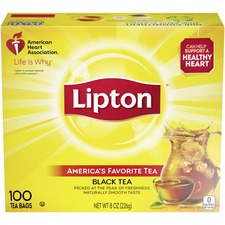 Lipton® Classic Tea Bags - Black Tea - 1.3 oz Per Packet - 100 Teabag - 100 / Box