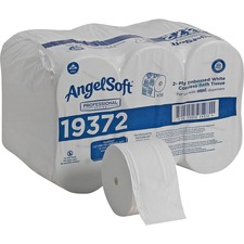 "Angel Soft Professional Series Premium Embossed Coreless 2-Ply Toilet Paper - 2 Ply - 3.85"" x 4.05"" - 1125 Sheets/Roll - White - For Restroom - 18 / Carton"