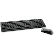 Verbatim Wireless Slim Keyboard and Optical Mouse - Black - USB Wireless RF Keyboard - 80 Key - English, French - Black - USB Wireless RF Mouse - Scroll Wheel - QWERTY - Black - Play/Pause, Multimedia Hot Key(s) - AA, AAA - Compatible with Computer (PC)