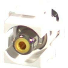 C2G Snap-In Yellow RCA F/F Keystone Insert Module - White