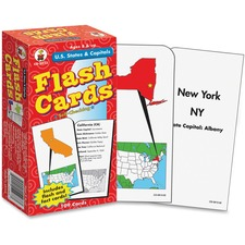 CDP CD3913 Carson Grades 3-5 U.S. States/Capitals Flash Cards CDPCD3913