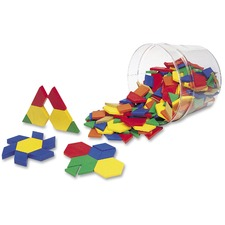 LRN LER0134 Learning Res. Plastic Pattern Blocks Set LRNLER0134