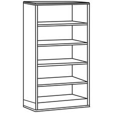 LLR 90031 Lorell 90000 Series Cherry Lam. 5-Shelf Bookcase LLR90031