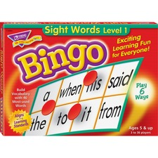 TEP T6064 Trend Sight Words Bingo Game TEPT6064