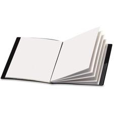 "Cardinal ShowFile Letter Presentation Book - 8 1/2"" x 11"" - 24 Sheet Capacity - 12 Internal Pocket(s) - Poly - Black - 1 Each"