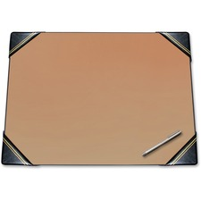 "Artistic Traditional Blotter Desk Pads with Padded Corners - Rectangle - 24"" (609.60 mm) Width x 19"" (482.60 mm) Depth - Black"