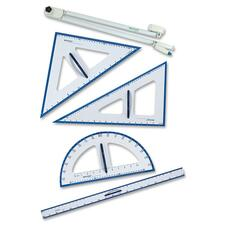 Acme United 14536 Dry-erase Board Geometry Set - 5 Piece(s) - Plastic - Assorted