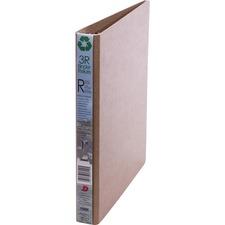 "Davis 5300 Series Round Ring 3R Binder - 1"" Binder Capacity - Letter - 8 1/2"" x 11"" Sheet Size - 3 x Round Ring Fastener(s) - Natural - Recycled - 1 Each"