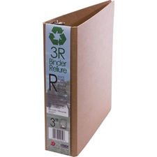 """Davis 5300 Series Round Ring 3R Binder - 3"""" Binder Capacity - Letter - 8 1/2"""" x 11"""" Sheet Size - 3 x D-Ring Fastener(s) - Natural - Recycled - 1 Each"""
