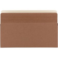 """Smead Easy Grip Straight Tab Cut Legal Recycled File Pocket - 8 1/2"""" x 14"""" - 3 1/2"""" Expansion - Redrope - Redrope - 30% Recycled"""