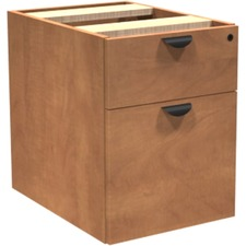 "Heartwood Innovations Hanging Box File Pedestal - 15.8"" x 21.8"" x 20.5"" - Material: Particleboard, Wood Grain - Finish: Laminate, Sugar Maple"