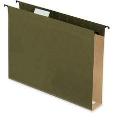 "Pendaflex SureHook Reinforced Hanging Folder - 2"" Folder Capacity - Letter - 8 1/2"" x 11"" Sheet Size - Green - Recycled - 20 / Box"