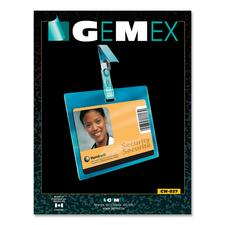 "Gemex CW827 Security ID Card Horizontal Badge Holder - 2.25"" (57.15 mm) x 3.50"" (88.90 mm) x - Vinyl - 50 / Pack - Clear"