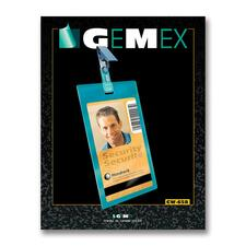 "Gemex CW658 Security I.D Card Vertical Badge Holder - 2.24"" (57 mm) x 3.50"" (89 mm) x - Vinyl - 50 / Pack - Clear"