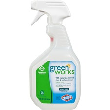 Green Works Natural Glass/Surface Cleaner - Spray - 946.35 mL - 1 Each