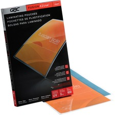 """GBC Premium 03223 Laminating Pouch - Laminating Pouch/Sheet Size: 11.25"""" Width x 17.50"""" Length x 5 mil Thickness - for Document, Luggage Tag, Business Card, Photo, Letter, Certificate - Clear - 100 / Pack"""