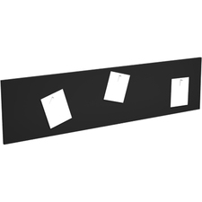 """Heartwood Innovations Series Tackboard - 15.75"""" (400.05 mm) Height x 62.50"""" (1587.50 mm) Width - Black Surface - 1 Each"""