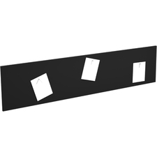 """Heartwood Innovations Series Tackboard - 15.75"""" (400.05 mm) Height x 68.25"""" (1733.55 mm) Width - Black Surface - 1 Each"""