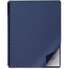 """GBC 01813 Linen Weave Standard Binding Cover - For Letter 8 1/2"""" x 11"""" Sheet - Rectangular - Navy - Linen - 50 / Pack"""
