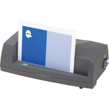 "Swingline 03109 Electric Hole Punch - 3 Punch Head(s) - 24 Sheet Capacity - 13"" (330.20 mm) x 6.50"" (165.10 mm) x 4.50"" (114.30 mm) - Dark Gray"