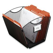 Safco Onyx Mesh Desktop Tub File - Desktop - Black - Steel - 1Each