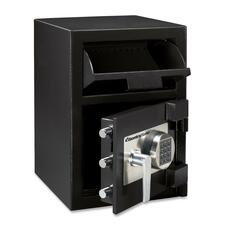"""Sentry Safe DH074E Depository Safe - 26.61 L - Electronic Lock - Internal Size 10.5"""" x 13.7"""" x 11.3"""" - Overall Size 20"""" x 14"""" x 15.6"""" - Black - Steel"""