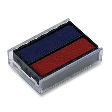 Trodat Printy Replacement Ink Pad - 1 Each - Red, Blue Ink