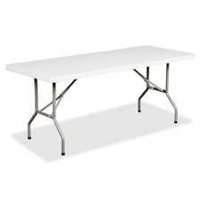 "Heartwood Folding Table - Rectangle Top - Four Leg Base - 24"" Table Top Width x 48"" Table Top Depth - Granite"