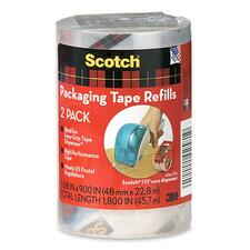 "Scotch DP1000RRC Packaging Tape Refill - 25 yd (22.9 m) Length x 1.88"" (47.6 mm) Width - 2 / Pack"
