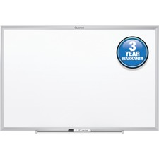 "Quartet Marker Board - 36"" (3 ft) Width x 24"" (2 ft) Height - White Surface - Anodized Aluminum Frame - 1 Each"