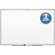 "Quartet Marker Board - 48"" (4 ft) Width x 36"" (3 ft) Height - White Surface - Anodized Aluminum Frame - 1 Each"