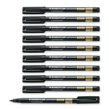 Lumocolor 319 Permanent Marker - Medium Marker Point - 1 mm Marker Point Size - Black - Polypropylene Barrel - 1 Each