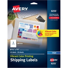 AVE8255 - Avery® Vibrant Color Printing Shipping Labels