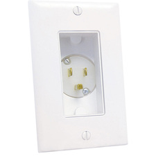 Midlite Décor Recessed Power Inlet - White