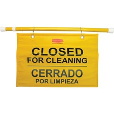 RCP 9S1600YL Rubbermaid Comm. Closed/Cleaning Safety Sign RCP9S1600YL