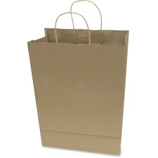 COS 091566 Cosco Premium Large Brown Paper Shopping Bags COS091566